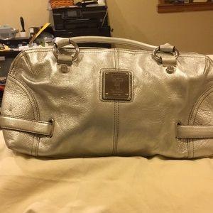 Tignanello silver bag